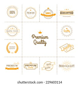 Vector illustration of Premium quality labels set