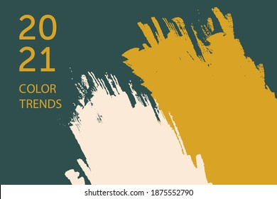 Vector illustration with presentation of color trends in 2021. Color trends 2021 of the new year-03.