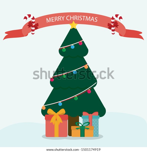 Vector Illustration Presents Under Christmas Tree Stock Vector Royalty Free 1501174919 4) click on the presents. shutterstock