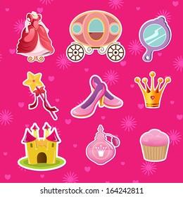 A vector illustration of princess icon designs