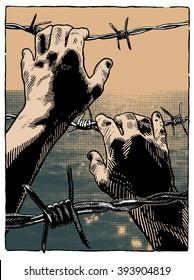 "Vector illustration ""prisoner"""