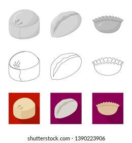 Vector illustration of products  and cooking icon. Collection of products  and appetizer stock vector illustration.