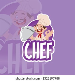 Vector illustration of a professional man chef