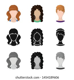 Vector illustration of professional and photo sign. Collection of professional and profile stock vector illustration.