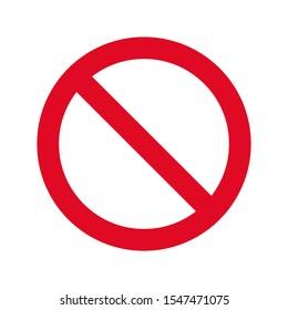 Vector illustration of prohibition sign isolated on white background. Prohibition symbol.