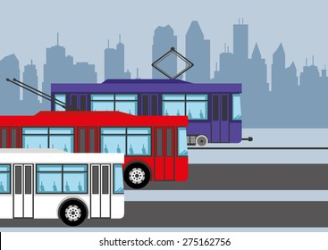 Vector illustration. Public transport.