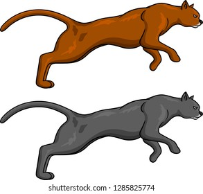 Vector illustration of a Puma vector for logo or t-shirt use.