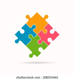 Vector Illustration of a Puzzle