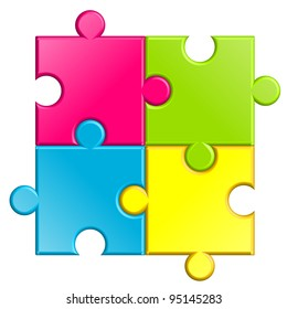 Vector illustration of puzzle