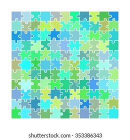 Vector Illustration of Puzzle toy blank for Design, Website, Background, Banner. Piece of game Colorful Element Template