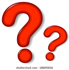 Vector illustration of question mark sign on white background