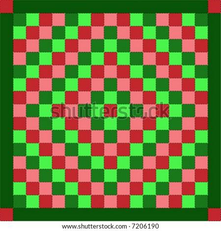Vector Illustration Quilt Serieschristmas Trip Around Stock Vector