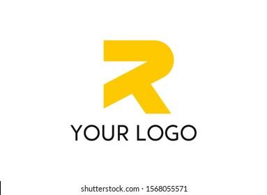 Vector illustration of R logo design. Isolated on white background.