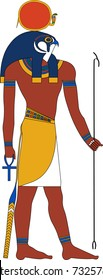 Vector illustration of Ra, ancient Egyptian god of sun