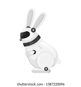 Vector illustration of rabbit and animal icon. Collection of rabbit and intelligence stock vector illustration.