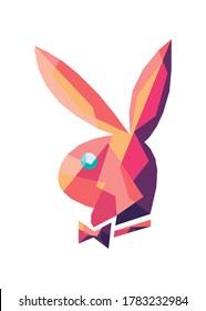 Vector Illustration Of rabbit in pop art , good for t-shirt , poster, etc