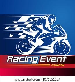 Vector illustration, Racing Event championship symbol.