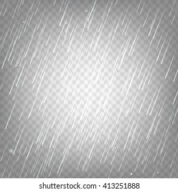 Vector illustration rain isolated on a transparent background. Eps 10