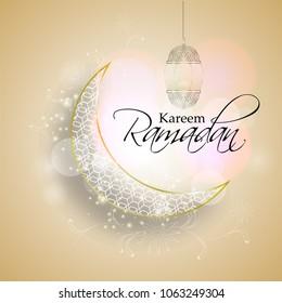 Vector illustration for Ramadan Kareem celebration.