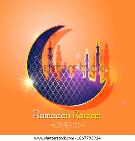 Vector illustration ramadan kareem greetings ramadan stock vector vector illustration of ramadan kareem greetings for ramadan background with islamic mosque m4hsunfo