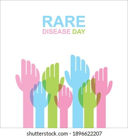 vector illustration of rare disease day poster design