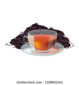 Vector illustration in realism style about tea