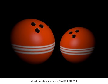 Vector illustration of realistic 3d bowling ball