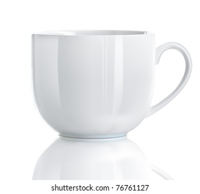 Vector illustration of Realistic Cool tea cup over white background
