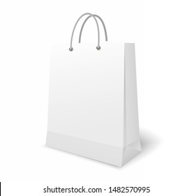 Vector illustration of realistic white shopping pack.