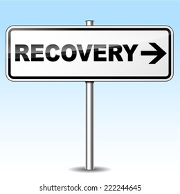 Vector illustration of recovery design sign on white background
