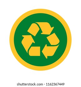Vector illustration of recycle icon for graphic and web design.