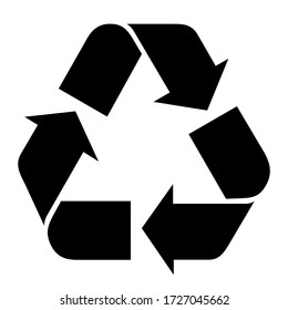 Vector illustration of Recycle symbol. - Shutterstock ID 1727045662