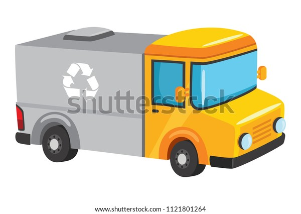 Vector Illustration Of Recycling Truck