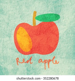 Vector illustration of a red apple