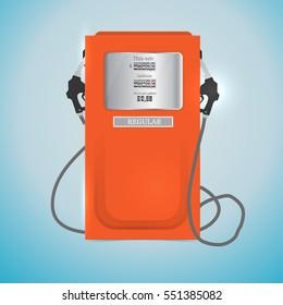 Vector illustration of red petrol station.