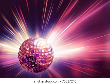 Vector illustration of red shiny abstract party design