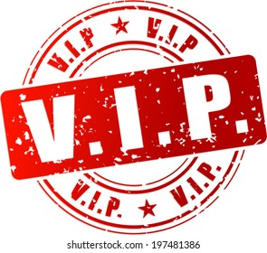 Vector illustration of red vip stamp icon