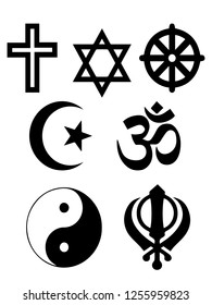 Vector illustration religious symbols