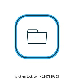 Vector illustration of remove icon line. Beautiful folder element also can be used as minus  icon element.