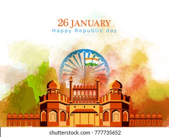 vector illustration of republic day. 26 january background.
