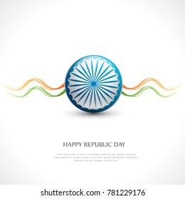 vector illustration of republic day celebration. 26 January