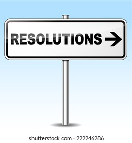 Vector illustration of resolutions design sign on white background