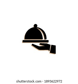 Vector illustration of restaurant cloche on a plate