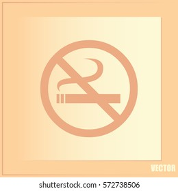 Vector illustration of the restricted area sign no smoking