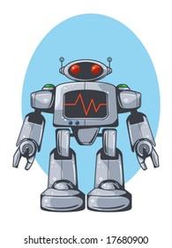 vector illustration of a retro robot