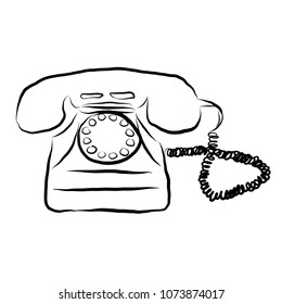 Vector illustration of retro telephone