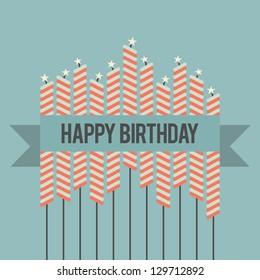Vector illustration of a retro-themed birthday greetings.