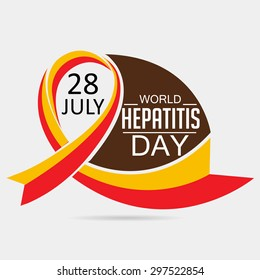 Vector illustration of a Ribbon for World Hepatitis Day.