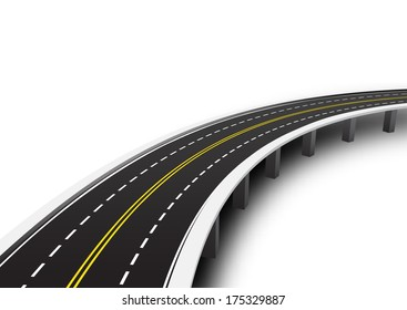 Vector illustration of road.