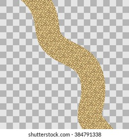 Vector illustration of road made of gold